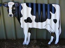 *  Aussie Handmade Corrugated Iron Cow / Garden Yard Art / Ornament Sculpture