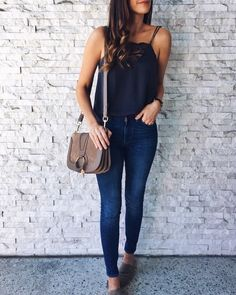 Navy lace cami, feminine style inspiration, lace camisole, neutral style, date night outfit, spring style, romantic style tops