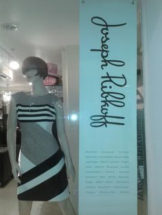 B&W Monochrome Dress - Joseph Ribkoff
