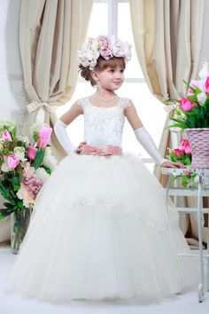Custom Made Toddler Ball Gown Party Evening Gowns Formal Girl Dresses