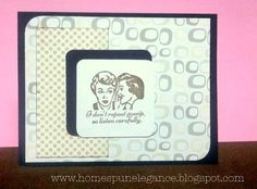 Mod Retro Card - I don't repeat Gossip, so listen closely! www.homespunelegance.blogspot.com
