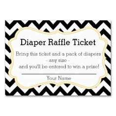 Little Blue Green Elephant Diaper Raffle Ticket Business Card