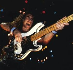 Steve Harris with a Fender P-bass.
