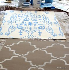ikats and trellises and chalk paint®, oh my!…and playing with milk paint using miss mustard seed's palette of de-lish colors, and all the accoutrements: waxes, hempseed oil, crackle medium and burnishing paste
