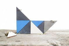Geometric Leather Necklace Leather bib necklace by NasuKka on Etsy, $47.00