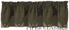 Cider Mill Lined Point Valance
