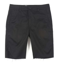 Metal Mulisha SHREDDER WALK SHORTS Black with Raw Edge Side & Back Pockets