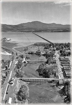 sandpoint long bridge over lake pend oreille. (but i love sagle better because of our lake) Sandpoint Idaho, Coeur D'alene Idaho, River House, Out Of This World, Historical Society, Where The Heart Is, Historical Photos, Paris Skyline, City Photo