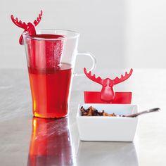 Zaparzaczka do herbaty czerwona Rudolf KZ-3233013 - Pracownia Pięknych Pomysłów
