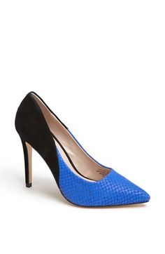 Carvela Kurt Geiger 'Ash' Pump available at Nordstrom Shoes, Carvela Kurt Geiger, Blue Pumps, Fashion Shoes, Kitten Heels, Peep Toe, My Style, Casual, Type 4