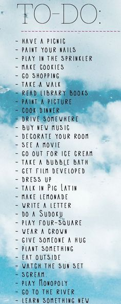 The ULTIMATE to-do list