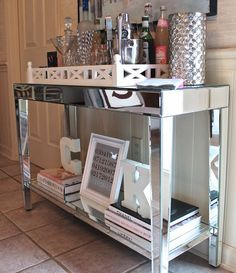 Mirrored console table from Target | small furniture finds.