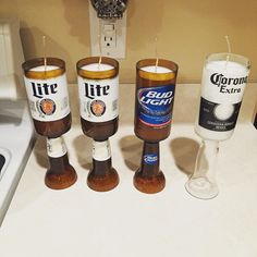 A #candlemakers #work is never done  still has to do another #pour then I can get them out to our #customers #love this #job #etsy #etsylife #etsyshop #etsyseller #candles #scentedcandles #beer #beersofinstagram #beerstagram #beercandles #millerlite #budlight #corona