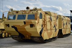 Russian DT-30PM all terrain vehicle at RAE exhibition on September 9, 2015