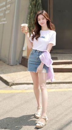 Best 10 Check out this Awesome latest korean fashion – SkillOfKing. Ulzzang Fashion, Ulzzang Girl, Asian Fashion, Look Fashion, Girl Fashion, Fashion Outfits, Fashion Tips, Fashion Design, Girly Outfits
