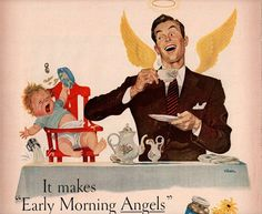 vintage early morning angels 1946 advertisement by FrenchFrouFrou, $12.95