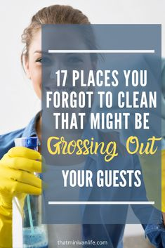 Have you started spring cleaning? Check out this list of 17 often forgotten places and add them to your regular cleaning schedule. Your spring cleaning checklist might need an update! Household Cleaning Tips, Deep Cleaning Tips, House Cleaning Tips, Diy Cleaning Products, Cleaning Solutions, Cleaning Hacks, Cleaning Schedules, Chemical Free Cleaning, Spring Cleaning Checklist
