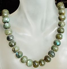 Colorful Beautiful Labradorite Necklace c/w Czech by camexinc, $33.00