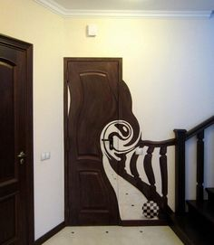 wonders of Tim Burton - Home Decorations Trend 2019 Goth Home Decor, Gothic House, Painted Doors, My New Room, Trippy, Room Decor, House Design, Interior Design, Furniture
