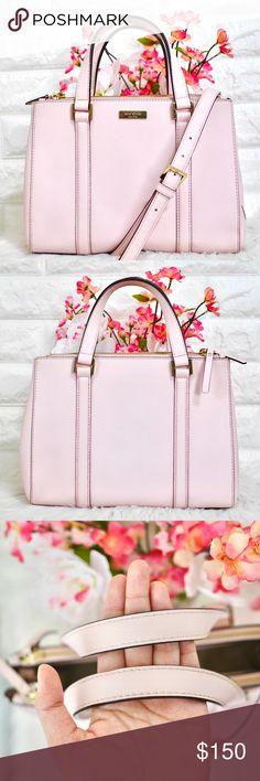 💖Kate Spade Newbury Lane Loden Small LIKE NEW. Color: Pale Pink Material: Crosshatched Leather Dimension: 8.2H x 10.9W x 4.7D  • No stains rips or tears.  • Price is firm. Sell only, no trades. kate spade Bags Satchels