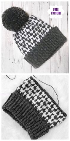 Crochet Up North Hat Pattern all'uncinetto gratis – Uncinetto You are in the right place about Crochet dishcloth Here we offer you the most beautiful. Crochet Beanie Pattern, Crochet Stitches Patterns, Knitting Patterns, Hat Patterns, Knitting Hats, Tunisian Crochet, Knit Crochet, Crochet Hat For Men, Motifs Beanie