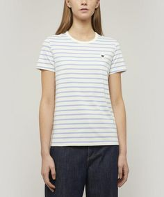 Wood Wood Uma Striped T-shirt In Multi Wood Wood, Everyday Look, Classic Style, Organic Cotton, Street Wear, Pure Products, T Shirts For Women, Clothes, Tops