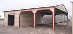 1000 images about garages on pinterest garage church for Carport shop combo