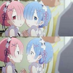rem & ram re:zero Subaru, Ram And Rem, Kanna Kamui, Re Zero Rem, Cute Twins, Best Waifu, Anime Art Girl, Anime Girls, I Love Anime