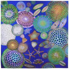ԑ̮̑♦̮̑ɜ~Mandalas~ԑ̮̑♦̮̑ɜ Diatom by Betty Busby Yellena James, Landscape Quilts, Illustrations, Gravure, Fabric Art, Medium Art, Textile Art, New Art, Fiber Art