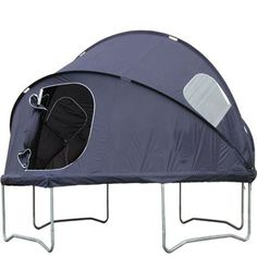 Trampoline Tent. Seriously!?? Why didn't they have this cool stuff when I was growing up!!