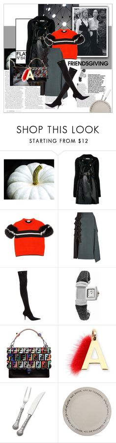 """""""#friendsgiving"""" by stylemeup-649 ❤ liked on Polyvore featuring Viktor & Rolf, Philosophy di Lorenzo Serafini, Fendi, Balenciaga, Wallace and Tag"""