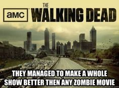 So true...spoiled on TWD zombies.