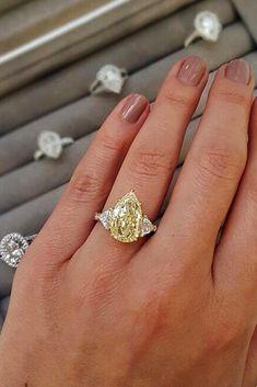 diamond engagement rings yellow diamond engagement rings white gold engagement r. Yellow Diamond Engagement Ring, Yellow Diamond Rings, Pear Shaped Engagement Rings, Vintage Engagement Rings, Oval Diamond, Black Diamond, Diamond Heart, Canary Diamond, Yellow Diamonds