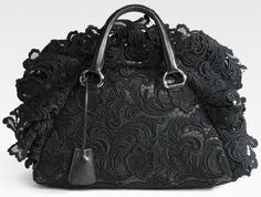 Prada Pizzo S Satchel in Black