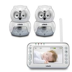 VTech Safe&Sound VM344-2 Expandable Digital Video Baby Monitor with Pan & Tilt 2 Cameras and Automatic Night Vision Popular Baby Stuff