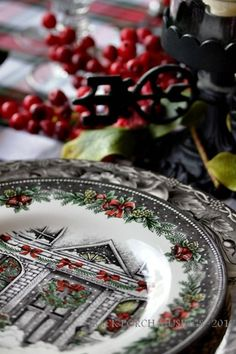 Royal Stafford Christmas Home (Christmas Valley) plates, just beautiful! Discontinued in 2014.