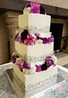 """Custom """"cottage foods"""" cake studio offering one on one planning, delicious flavors, and amazing designs. Buttercream Wedding Cake, Floral Tie, Cake Recipes, Wedding Cakes, Desserts, Beautiful, Food, Wedding Gown Cakes, Tailgate Desserts"""