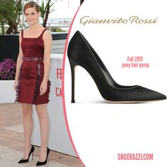 Emma Watson in Gianvito Rossi Pony Hair Pumps to 'The Bling Ring' photo call at the Cannes Film Festival