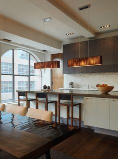 Tribeca Residence in New York designed by Purvi Padia Design #axolight #clavius #diningroom