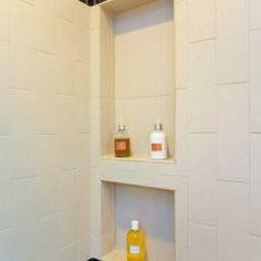 inset shelf for shower stuff