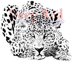 Leopard Deep Red Cling Rubber Stamp
