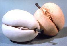 Yoni-shaped Plums (glazed ceramics) from the Vincent Dame collection.