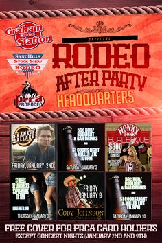 Sandhills #Rodeo flyer design for Graham Central Station #nightclub in Odessa