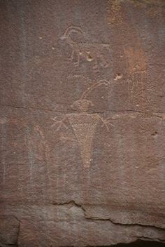Fremont Petroglyphs: another view of the petroglyphs