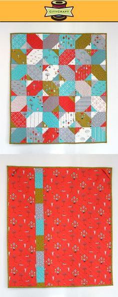Look! I finished my Little Apples Quilt!! (Fabric by Aneela Hoey for Moda)   Will be on display soon at CityCraft :)