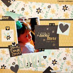 Lucky+Stars+Layout - Heart Simple Set - Scrapbook.com
