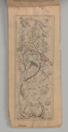 Anthology of Persian Poetry (Safina) 'Abd al-'Azim al-Yahya, circa 1681-5 C.E. (A.H. 1092-96), Islamic (Iran). Ink and watercolor on paper, 19.1 x 7.9 cm. Image courtesy of the Metropolitan Museum of Art (accession number: 2003.1321).
