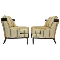 Pair of Erwin-Lambeth Chairs for Tomlinson | From a unique collection of antique and modern lounge chairs at https://www.1stdibs.com/furniture/seating/lounge-chairs/