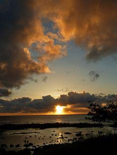 Sharks Cove Sunset, North Shore, Oahu, Hawaii