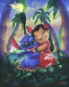 Lilo and stitch painting lilo and stitch диснеевские темы, л Disney Stitch, Lilo E Stitch, Cute Stitch, Mickey Mouse Wallpaper, Disney Phone Wallpaper, Cartoon Wallpaper, Disney Drawings, Cute Drawings, Lilo And Stitch Drawings